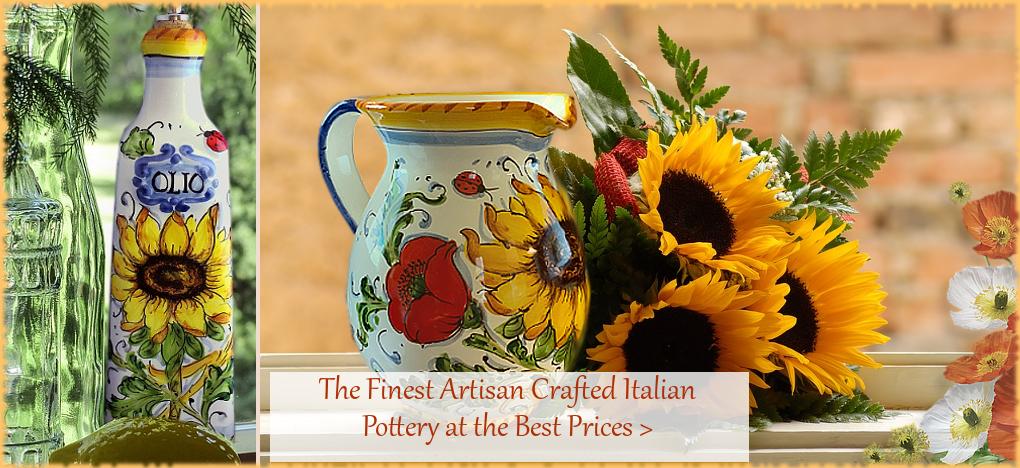 BellaSoleil.com - Italian Pottery, Italian Ceramics, Tuscan Mediterranean Style Home Decor | FREE Shipping, No Sales Tax | BellaSoleil.com Tuscan Decor Since 1996