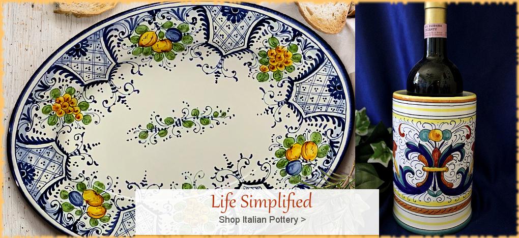 Italian Pottery Italian Ceramics   FREE Shipping, No Sales Tax   BellaSoleil.com Tuscan Decor Since 1996
