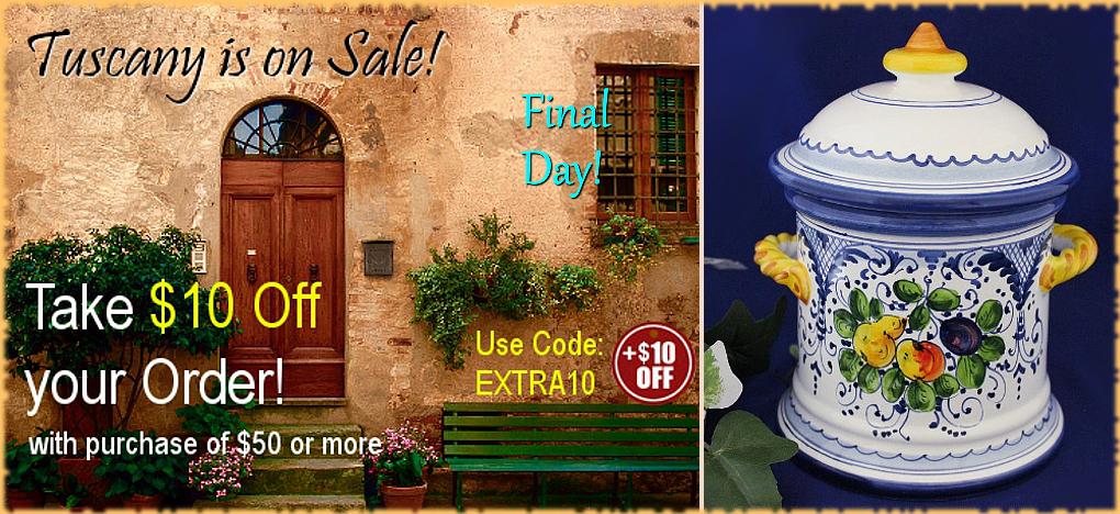 BellaSoleil.com Italian Pottery Tuscan Home Decor Easter Sale   FREE Shipping, No Sales Tax   BellaSoleil.com Since 1996
