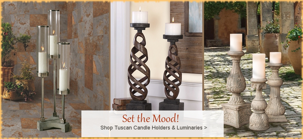 Ordinaire BellaSoleil.com   Tuscan, Mediterranean Style Candle Holders | FREE  Shipping, No Sales