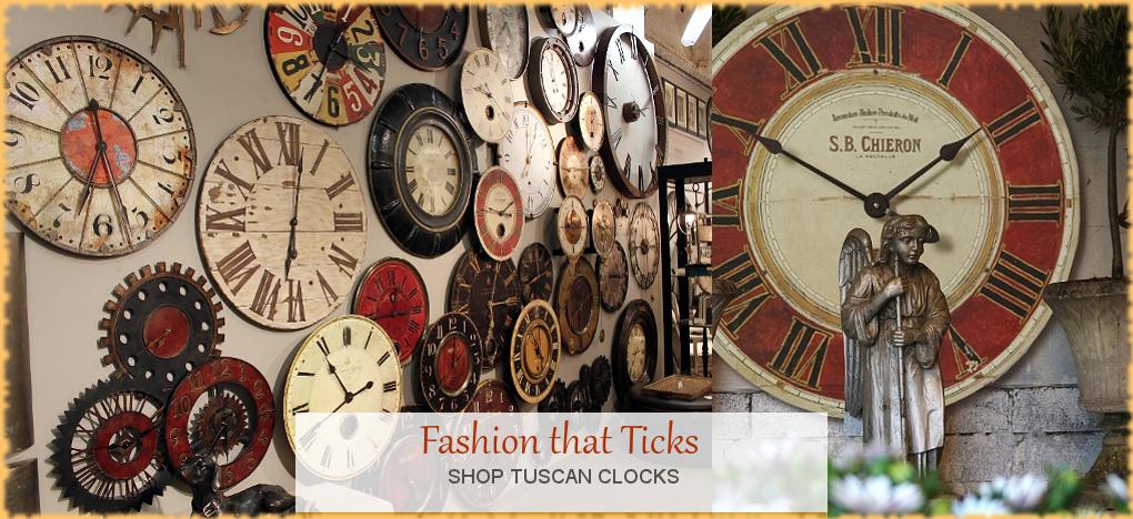 BellaSoleil.com - Tuscan, Mediterranean Style Clocks   FREE Shipping, No Sales Tax   BellaSoleil.com Tuscan Decor Since 1996