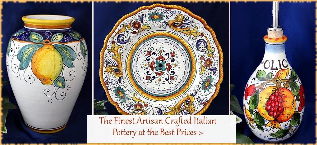 FREE SHIPPING SALE Italian Pottery, Italian Ceramics, Deruta Italian Ceramics   FREE Shipping, No Sales Tax   BellaSoleil.com Tuscan Decor Since 1996