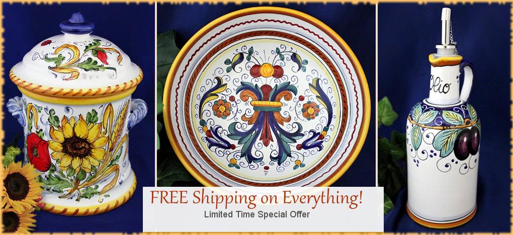 Deruta Italian Ceramics Tuscan Home Decor SALE   FREE Shipping, No Sales Tax   BellaSoleil.com Tuscan Decor Since 1996