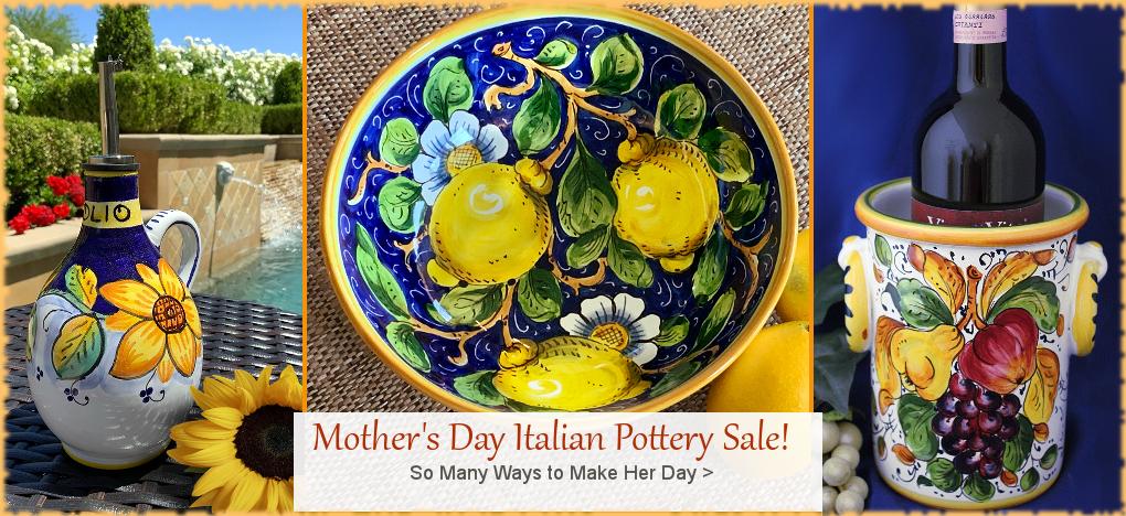 Italian Pottery, Deruta Italian Ceramics, Tuscany Pottery, Discount Prices | FREE Shipping, No Sales Tax | BellaSoleil.com Tuscan Decor Since 1996