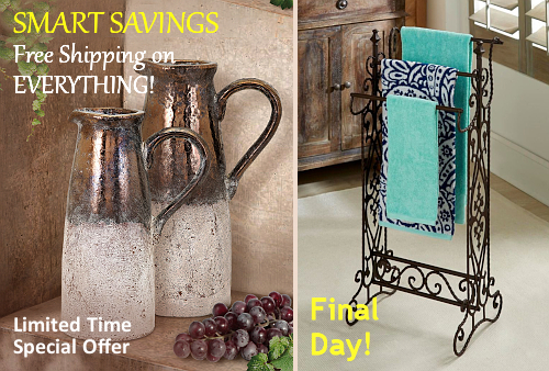 Tuscan Decor and Italian Pottery FREE Shipping Sale | No Sales Tax.  BellaSoleil.com Since 1996.