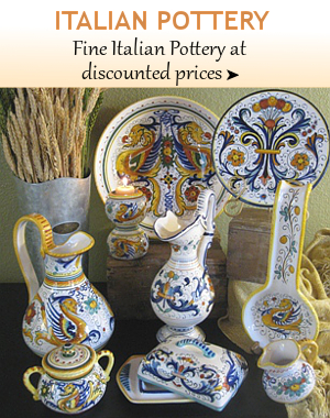 Fine Italian Pottery from Tuscany, Deruta, Vietri, Florence, Sicily | BellaSoleil.com Tuscan Decor and Italian Pottery
