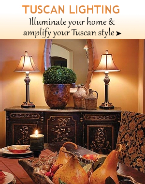 Tuscan Lamps Tuscan Lighting | BellaSoleil.com Tuscan Decor And Italian  Pottery ...