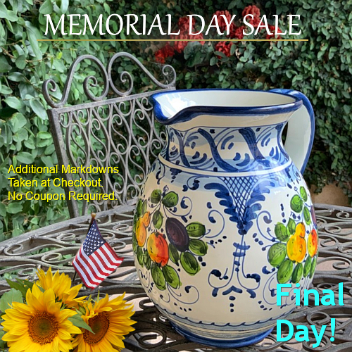 Italian Pottery Tuscan Decor Memorial Day Sale   BellaSoleil.com Since 1996