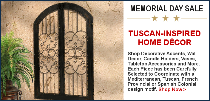 Tuscan Decor Memorial Day Sale   BellaSoleil.com Since 1996