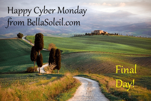 BellaSoleil.com Italian Pottery and Tuscan Decor Cyber Monday Sale