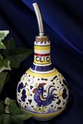Gallo Rooster Olive Oil Bottle, Deruta Orvieto Olive Oil Bottle