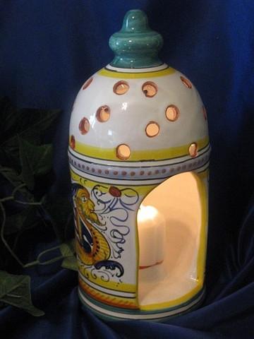 Deruta Candle Holder Lantern