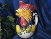 Deruta Lemon Rooster Pitcher