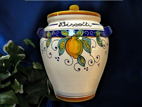 Deruta Lemon Biscotti Jar