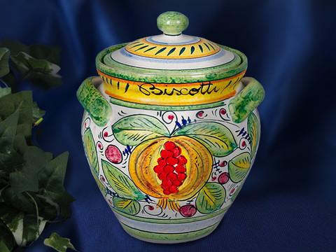 Deruta Frutta Biscotti Jar