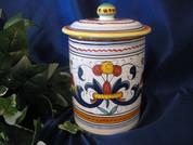 Deruta Biscotti Jar