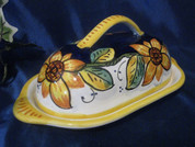 Deruta Sunflower Butter Dish