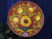 Tuscan Sunflower Serving Platter, Tuscan Sunflower Plate