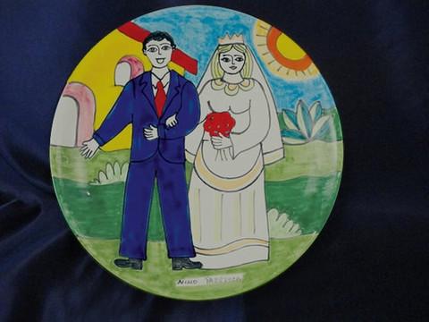 Nino Parrucca Wedding Plate