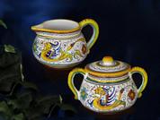Deruta Raffaellesco Cream and Sugar Bowl
