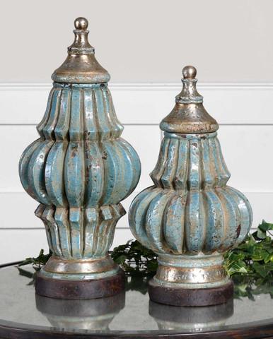 French Tuscan Jars, European Style Vases
