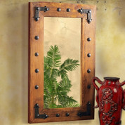 Tuscan Farmhouse Rustic Wooden Mirror