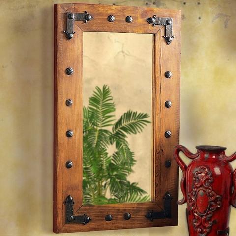Tuscan Farmhouse Rustic Wooden Mirror