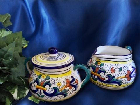 Deruta Cream and Sugar Bowl