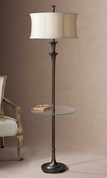 Tuscan End Table Floor Lamp