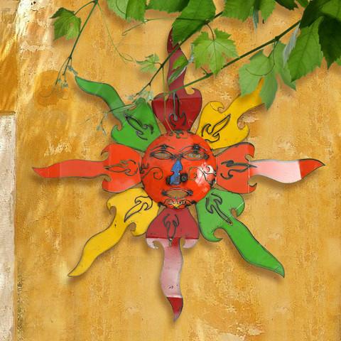 Reclaimed Metal Sun Wall Art,  Tuscan Sun Wall Art