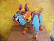 Metal Bulldog Statue