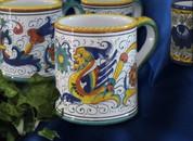 Deruta Coffee Cup, Deruta Raffaellesco Coffee Mug