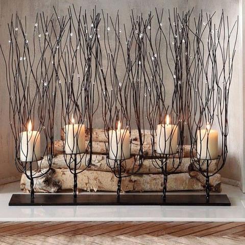 Tree Branch Candle Holder, Fedora Candleholder