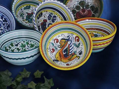 Deruta Raffaellesco Soup Salad Bowl, Deruta Raffaellesco Serving Bowl, Deruta Raffaellesco Bowl