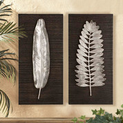 Silver Leaves, Tuscan Wall Plaques