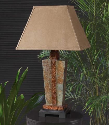 Slate Table Lamp, Tuscan Lamp