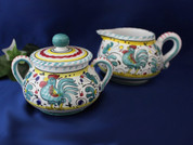 Deruta Cream and Sugar Bowl