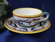 Deruta Ricco Tea Cup and Saucer