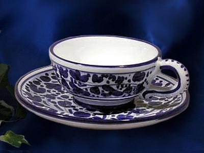 Deruta Arabesco Tea Cup and Saucer