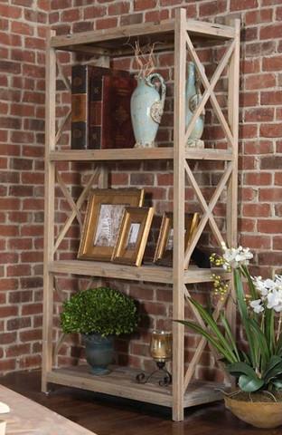 Reclaimed Wood Etagere, Tuscan Farmhouse Bookshelf