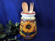 Tuscan Sunflower Utensil Holder