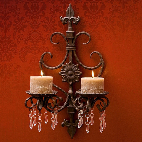 Fleur De Lis Wall Sconce, French Tuscan Wall Sconce
