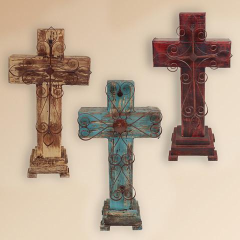 Rustic Cross, Rustic Pedestal Cross