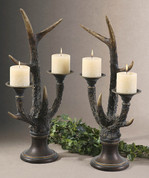 Stag Horn Candleholder