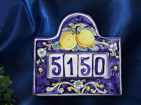Italian House Number Plaque, Italian House Numbers