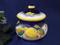 Deruta Lemon Grape Garlic Pot