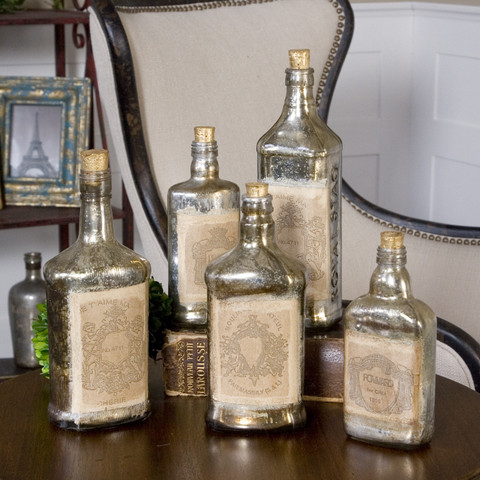 Mercury Glass Bottles