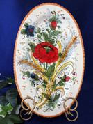 Tuscan Poppies Plate