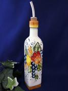 Tuscan Fruit Jumbo Olive Oil Bottle, Tuscany Olive Oil Bottle