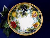 Tuscan Lemons Grapes Serving Bowl, Tuscan Lemon Grapes Bowl, Tuscan Lemons Serving Bowl